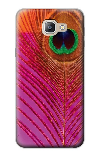 Printed Pink Peacock Feather Samsung Galaxy A9, A9 Pro (2016) Case