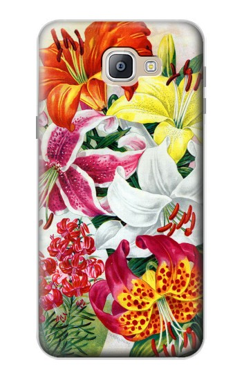 Printed Retro Art Flowers Samsung Galaxy A9, A9 Pro (2016) Case