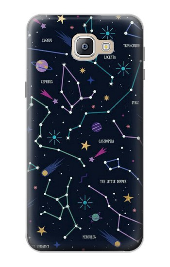 Printed Star Map Zodiac Constellations Samsung Galaxy A9, A9 Pro (2016) Case