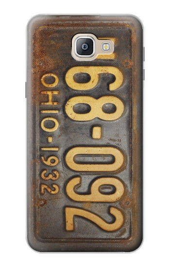 Printed Vintage Car License Plate Samsung Galaxy A9, A9 Pro (2016) Case