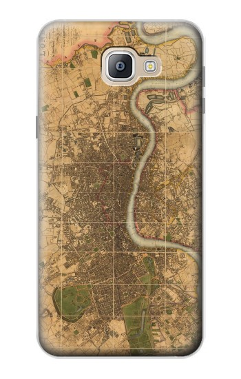 Printed Vintage Map of London Samsung Galaxy A9, A9 Pro (2016) Case