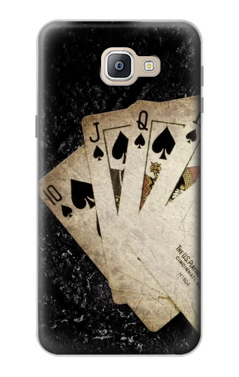 Printed Vintage Royal Straight Flush Cards Samsung Galaxy A9, A9 Pro (2016) Case