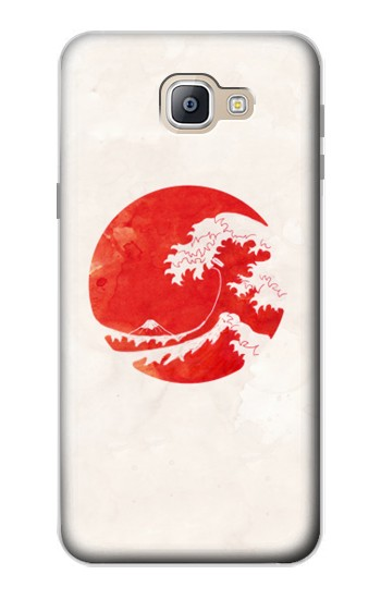 Printed Waves Japan Flag Samsung Galaxy A9, A9 Pro (2016) Case