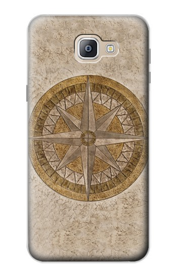 Printed Windrose Circle Stamp Samsung Galaxy A9, A9 Pro (2016) Case