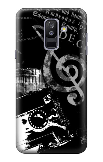 Printed Music Cassette Note Samsung Galaxy A6+ (2018) Case
