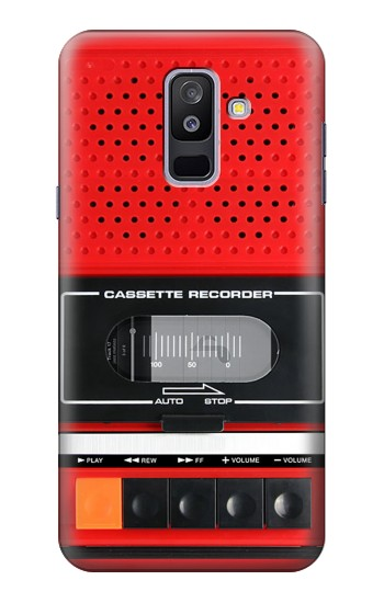 Printed Red Cassette Recorder Graphic Samsung Galaxy A6+ (2018) Case