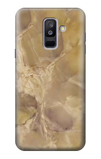 Printed Yellow Marble Stone Samsung Galaxy A6+ (2018) Case