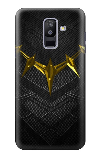 Printed Black Panther Inspired Costume Gold Necklace Samsung Galaxy A6+ (2018) Case