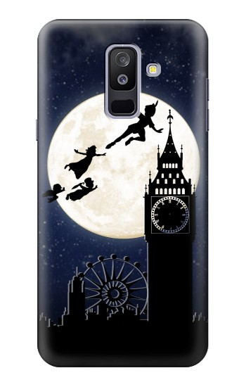 Printed Peter Pan Fly Fullmoon Night Samsung Galaxy A6+ (2018) Case