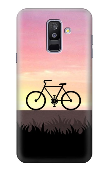 Printed Bicycle Sunset Samsung Galaxy A6+ (2018) Case