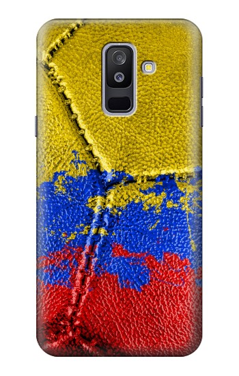 Printed Colombia Flag Vintage Football 2018 Samsung Galaxy A6+ (2018) Case