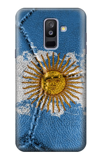 Printed Argentina Flag Vintage Football 2018 Samsung Galaxy A6+ (2018) Case
