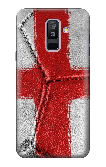 Printed England Flag Vintage Football 2018 Samsung Galaxy A6+ (2018) Case