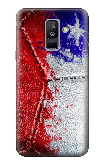 Printed Chile Flag Vintage Football 2018 Samsung Galaxy A6+ (2018) Case