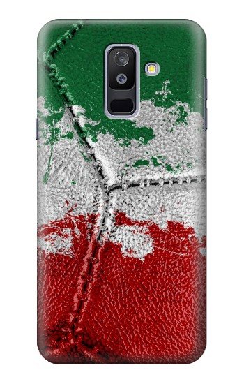 Printed Italy Flag Vintage Football 2018 Samsung Galaxy A6+ (2018) Case