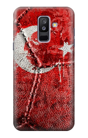 Printed Turkey Flag Vintage Football 2018 Samsung Galaxy A6+ (2018) Case