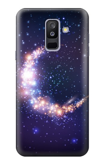 Printed Crescent Moon Galaxy Samsung Galaxy A6+ (2018) Case