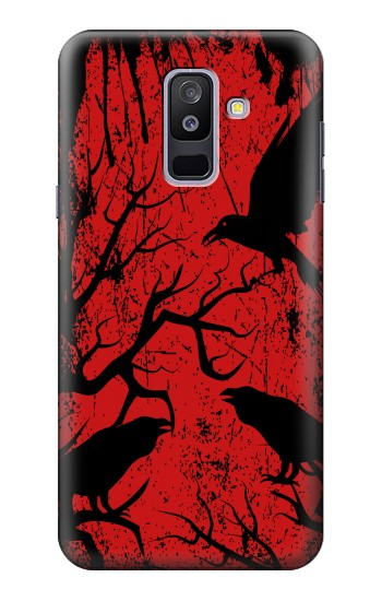 Printed Crow Black Tree Samsung Galaxy A6+ (2018) Case