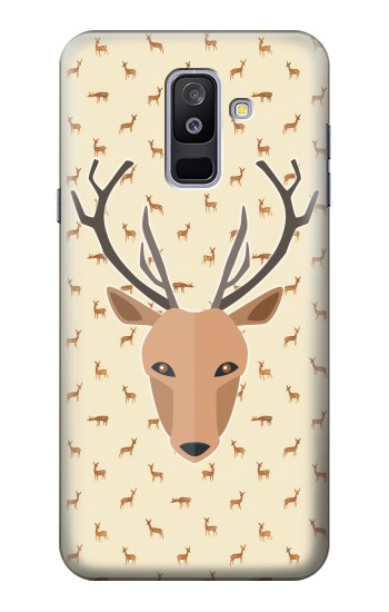 Printed Deer Pattern Samsung Galaxy A6+ (2018) Case