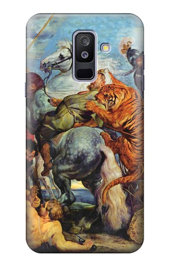 Printed Peter Paul Rubens Tiger und Lowenjagd Samsung Galaxy A6+ (2018) Case
