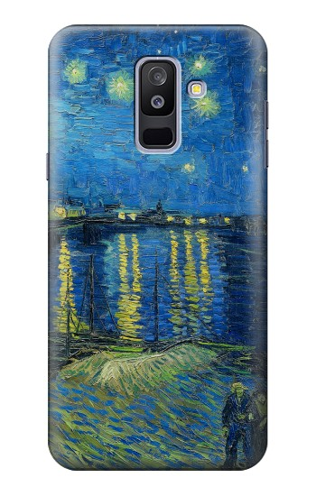 Printed Van Gogh Starry Night Over Rhone Samsung Galaxy A6+ (2018) Case