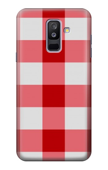 Printed Red Gingham Samsung Galaxy A6+ (2018) Case