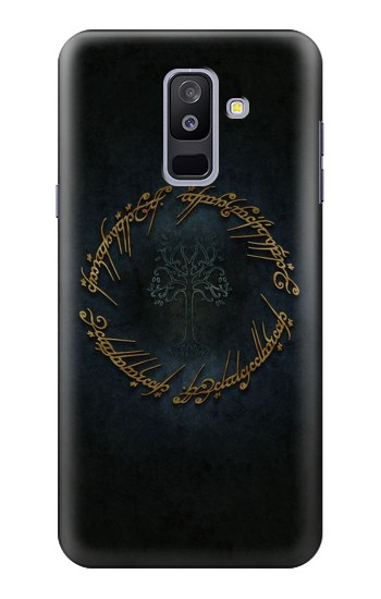 Printed Lord of The Rings Ring Elf Writing Samsung Galaxy A6+ (2018) Case