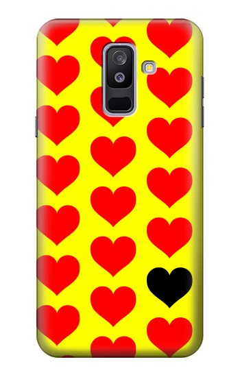 Printed Red Heart Samsung Galaxy A6+ (2018) Case
