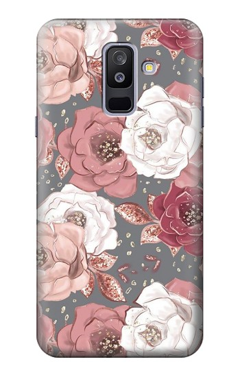 Printed Rose Floral Pattern Samsung Galaxy A6+ (2018) Case