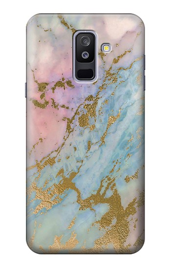 Printed Rose Gold Blue Pastel Marble Graphic Printed Samsung Galaxy A6+ (2018) Case