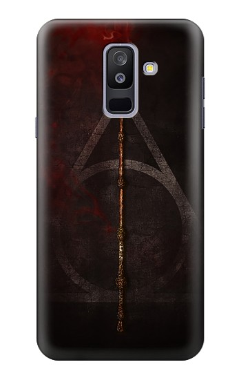 Printed Deathly Hallows Magic Wand Red Samsung Galaxy A6+ (2018) Case