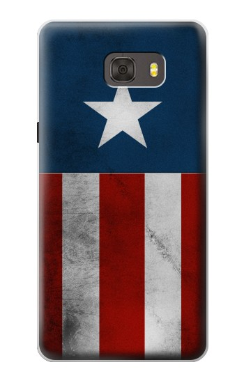 Printed Captain Star Flag of America Samsung Galaxy alpha Case