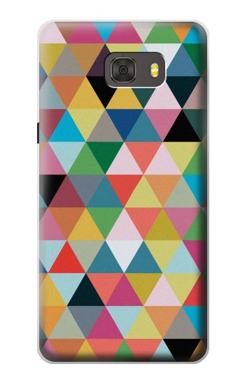 Printed Triangles Vibrant Colors Samsung Galaxy alpha Case