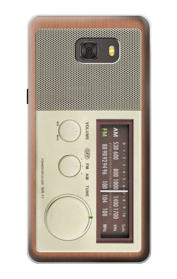 Printed FM AM Wooden Receiver Graphic Samsung Galaxy alpha Case