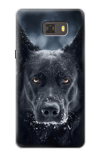 Printed German Shepherd Black Dog Samsung Galaxy alpha Case