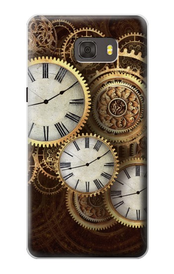 Printed Gold Clock Live Samsung Galaxy alpha Case