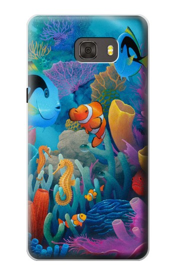 Printed Underwater World Cartoon Samsung Galaxy alpha Case