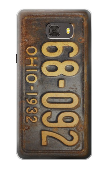 Printed Vintage Car License Plate Samsung Galaxy alpha Case