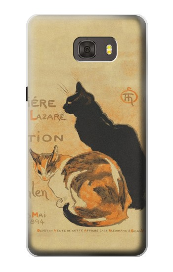 Printed Vintage Cat Poster Samsung Galaxy alpha Case