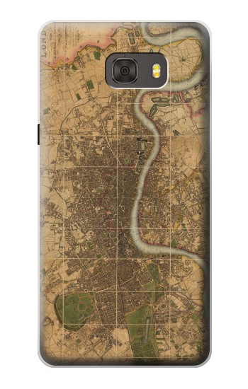 Printed Vintage Map of London Samsung Galaxy alpha Case
