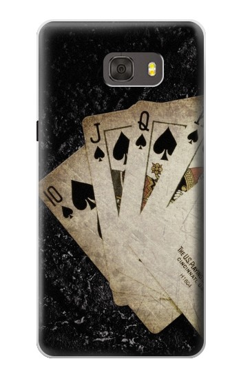 Printed Vintage Royal Straight Flush Cards Samsung Galaxy alpha Case