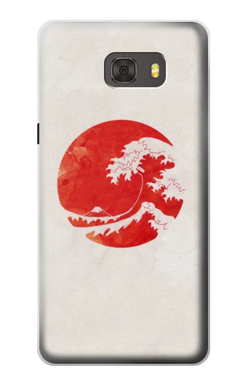 Printed Waves Japan Flag Samsung Galaxy alpha Case