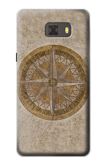 Printed Windrose Circle Stamp Samsung Galaxy alpha Case