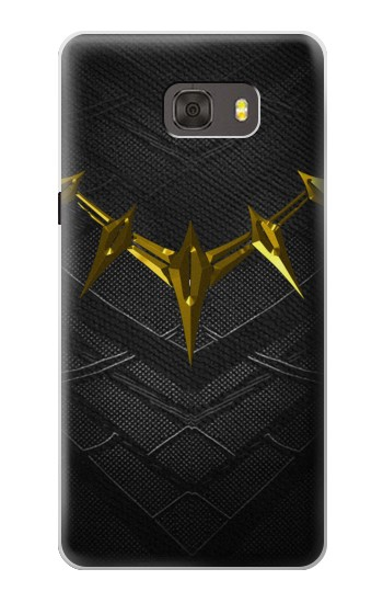 Printed Black Panther Inspired Costume Gold Necklace Samsung Galaxy alpha Case