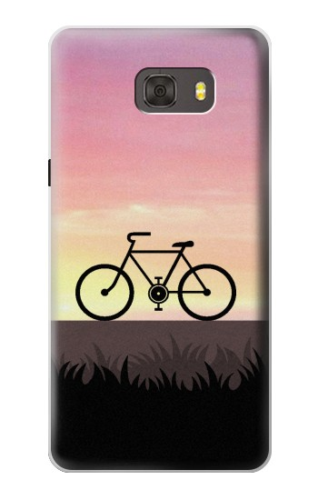 Printed Bicycle Sunset Samsung Galaxy alpha Case