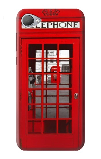 Printed Classic British Red Telephone Box HTC Desire 12 Case