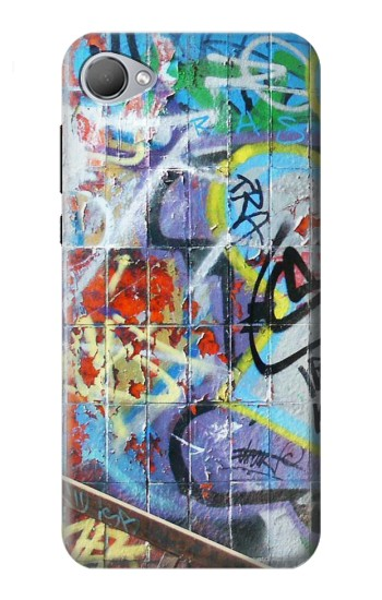 Printed Wall Graffiti HTC Desire 12 Case