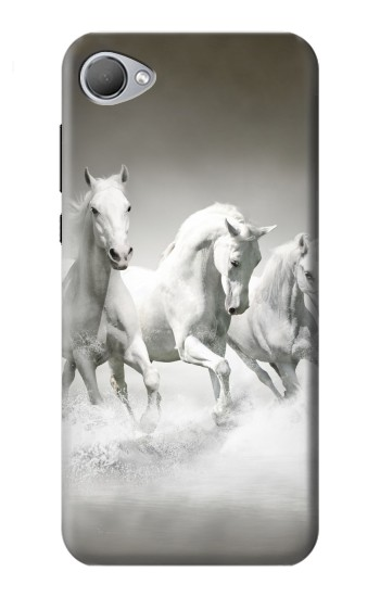 Printed White Horses HTC Desire 12 Case