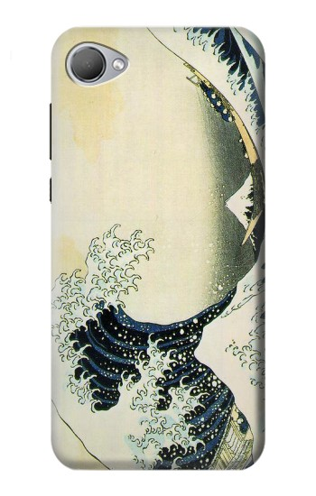 Printed Katsushika Hokusai The Great Wave of Kanagawa HTC Desire 12 Case