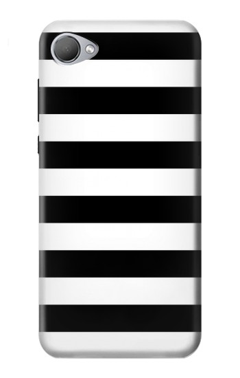 Printed Black and White Striped HTC Desire 12 Case